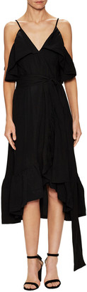 Jill Stuart Kandy Cold-Shoulder Midi Dress