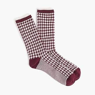 J.Crew Trouser socks in gingham and stripes