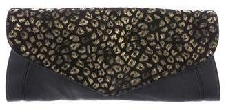 See by Chloe Printed Leather Flap Clutch
