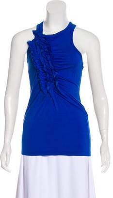 Y-3 Ruffle-Accented Sleeveless Top