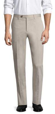Salvatore Ferragamo Hanging Flat-Front Trousers