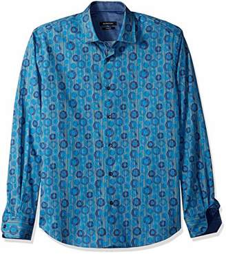 Bugatchi Men's Fitted Point Collar Long Sleeve Button Down Shirt