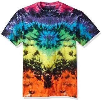 Liquid Blue Men's Butterfly Krinkle Tie Dye Short Sleeve T-Shirt