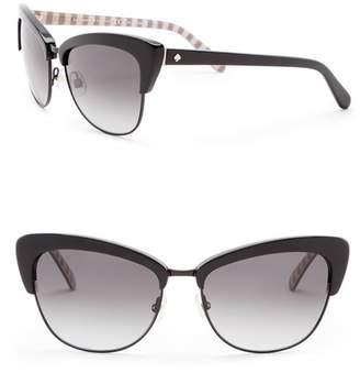 Kate Spade Genette 56mm Clubmaster Sunglasses