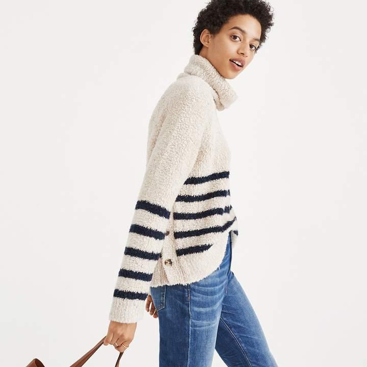 Mariner Stripe Turtleneck Sweater