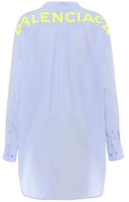 Balenciaga Printed cotton-poplin shirt