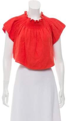 Apiece Apart Off-The-Shoulder Short Sleeve Top