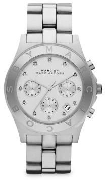 Marc by Marc Jacobs Blade Glitz Stainless Steel Chronograph Bracelet Watch $225 thestylecure.com
