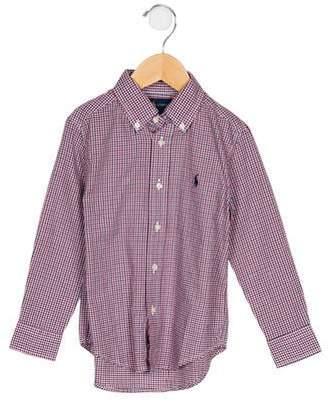 Ralph Lauren Boys' Checked Button-Up Shirt