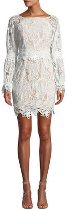 Elliatt Kate Heavy Lace Long-Sleeve Dress