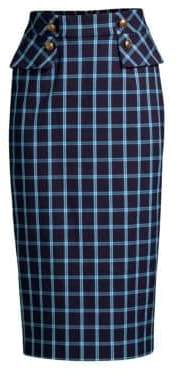Escada Redka Windowpane Pencil Skirt
