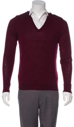 Burberry Wool V-Neck Sweater
