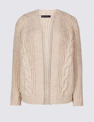 Marks and Spencer Cable Knit Open Front Cardigan