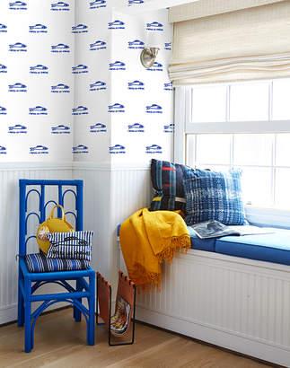 Lulu & Georgia Sardines Wallpaper by Clare V., Blue