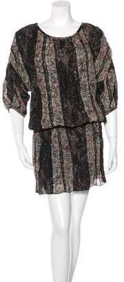 Thakoon Floral-Print Drop Waist Dress