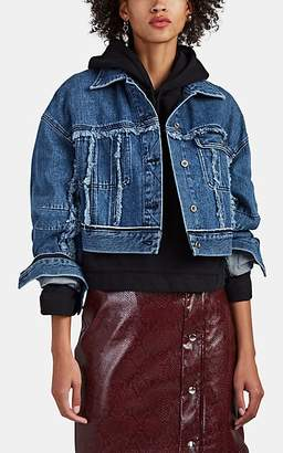 Acne Studios Women's Oriana Cropped Denim Jacket - Blue