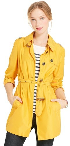Tommy Hilfiger Women's Single Breasted Short Trench