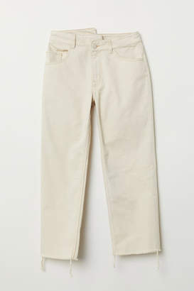 H&M Straight High Jeans - Beige