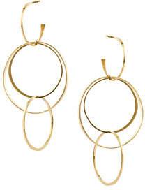 Lana Bond Medium 14K Interlocking Flat Hoop Earrings