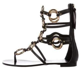 Giuseppe Zanotti Birel Nero Flat Sandals w/ Tags