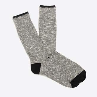 J.Crew Marled-cotton tipped socks