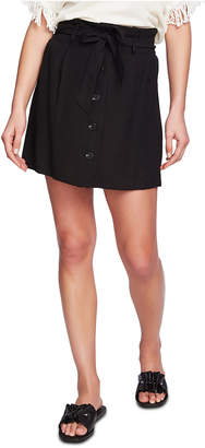 1 STATE 1.state Tie-Front Pleated Mini Skirt