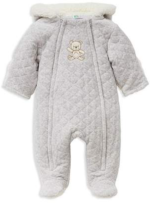 Little Me Unisex Heathered Faux-Fur Hooded Teddy Bear Footie Jacket - Baby