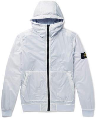 Stone Island Garment-Dyed Lamy Flock Nylon Hooded Jacket
