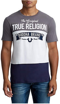 True Religion MENS SPLIT BUDDHA GRAPHIC TEE