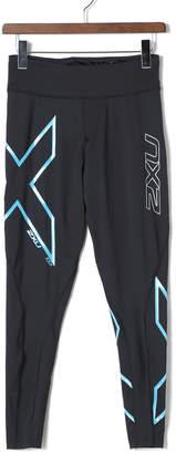 2XU (ツー タイムズ ユー) - 2XU ICE MID-RISE COMP レギンス ブラックxブルー xxs