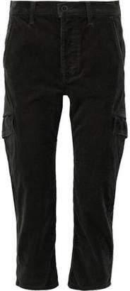 Vince Cropped Cotton-Corduroy Straight-Leg Pants