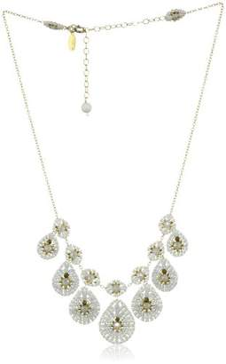 Miguel Ases Opalite Quartz and Mother-Of-Pearl Chandelier Necklace