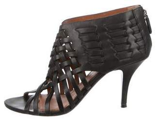 Givenchy Leather Peep-Toe Sandals