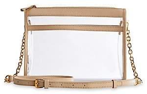 GiGi New York Women's Game Day Collins Tuohy Smith x Gigi Leigh Anne Leather-Trim Translucent Crossbody Bag