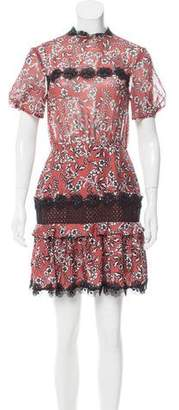 N. Nicholas Silk Floral Printed Dress