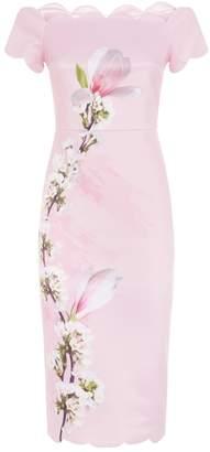 Ted Baker Olyva Floral Off-The-Shoulder Dress