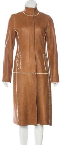 Burberry Long Shearling Coat
