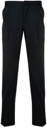 Entre Amis classic slim-fit trousers