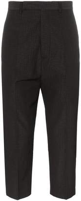 Rick Owens Cropped stripe wool blend trousers