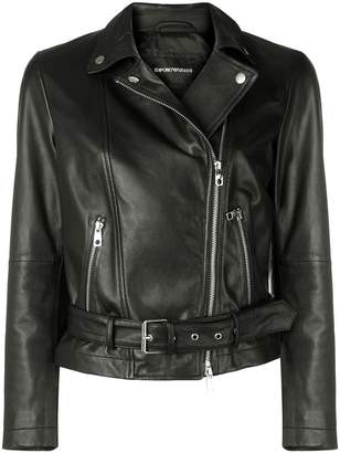 Emporio Armani leather biker jacket