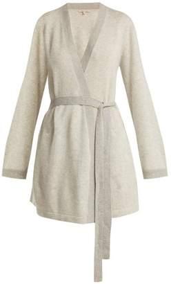 Morgan Lane - Bella Lurex Trimmed Cashmere Robe - Womens - Light Grey b7dcb41d1