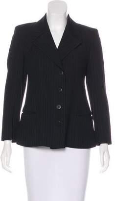 Donna Karan Wool Pinstripe Blazer