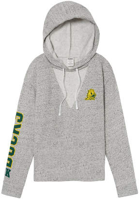 PINK University of Oregon Choker Neck Pullover Hoodie