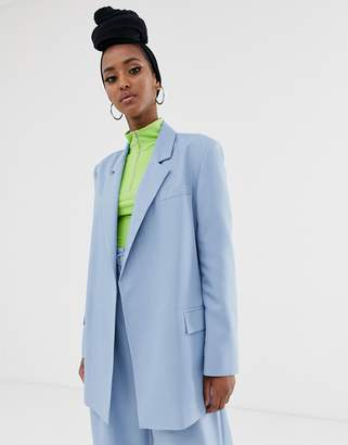 Asos Design DESIGN oversized suit blazer in powder blue