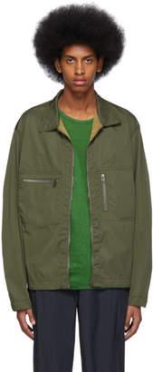Issey Miyake Reversible Khaki Memory PE Jacket
