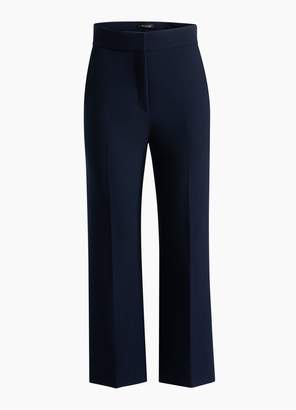 St. John Bella Double Weave Cropped Flare Pants
