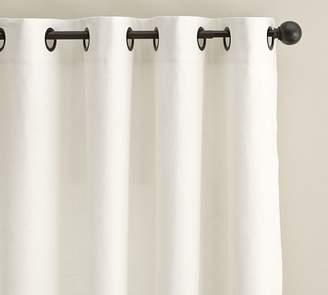 Pottery Barn Emery Linen/Cotton Grommet Drape - Ivory