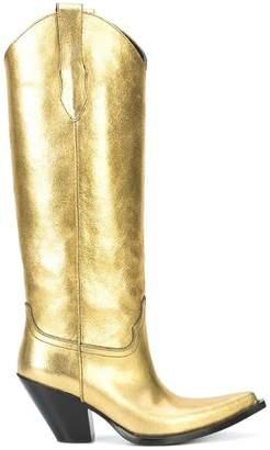 Maison Margiela metallic cowboy boots