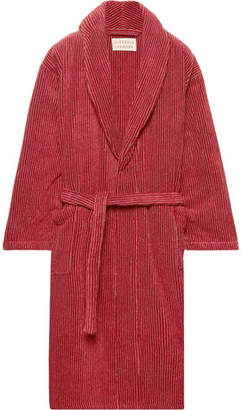 Laundry by Shelli Segal Cleverly Laundry Striped Cotton-Terry Robe