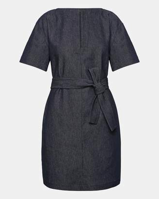 Theory Denim Belted Shift Dress